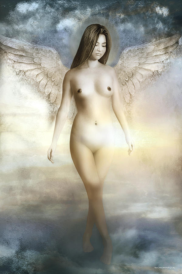 Guardian Angel Mixed Media - Guardian Angel Fine Art Print