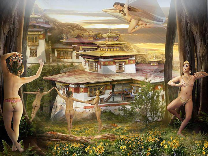 Welcome To Dakini Land Mixed Media - Welcome To Dakini Land Fine Art Print