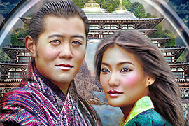 Beloved Dragons, The King & Queen of Bhutan